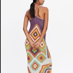 Zara colorful crochet dress